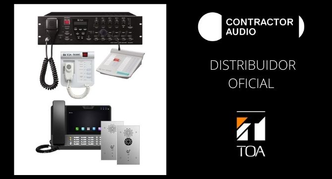 Contractor Audio nuevo Distribuidor oficial TOA